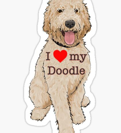 I love my Doodle Sticker