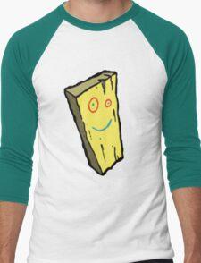 Ed, Edd N Eddy Plank Design  Men's Baseball ¾ T-Shirt