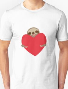 Funny sloth with heart Unisex T-Shirt