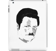 Ron Swanson - White iPad Case/Skin