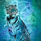 watercolor tiger by Ancello