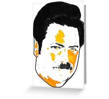 Ron Swanson - Orange  Greeting Card