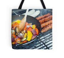 Barbecue Vegetables and Kebabs on Hot Coals Tote Bag