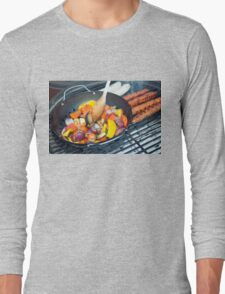 Barbecue Vegetables and Kebabs on Hot Coals Long Sleeve T-Shirt