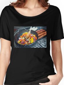 Barbecue Vegetables and Kebabs on Hot Coals Women's Relaxed Fit T-Shirt