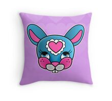 Blue Baby Bunny Throw Pillow