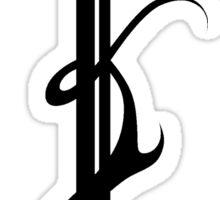 Flaming sword symbol (full black) Sticker
