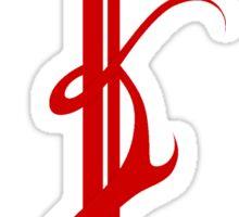 Flaming sword symbol (full red) Sticker
