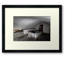 Old Village Fountain Framed Print