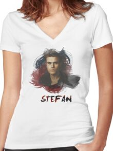 Stefan - The Vampire Diaries Women's Fitted V-Neck T-Shirt