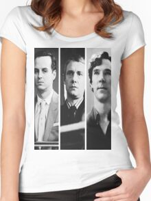 Sherlock - Jim Moriarty, John Watson, Sherlock Holmes Women's Fitted Scoop T-Shirt