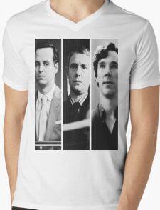 Sherlock - Jim Moriarty, John Watson, Sherlock Holmes Mens V-Neck T-Shirt