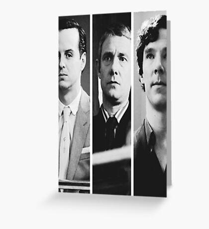 Sherlock - Jim Moriarty, John Watson, Sherlock Holmes Greeting Card