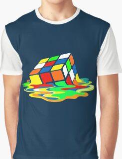 Big Bang Theory Sheldon Cooper Melting Rubik's Cube cool geek Graphic T-Shirt