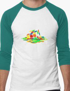Big Bang Theory Sheldon Cooper Melting Rubik's Cube cool geek Men's Baseball ¾ T-Shirt
