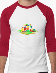 Big Bang Theory Sheldon Cooper Melting Rubik's Cube cool geek Men's Baseball ¾ T-Shirt