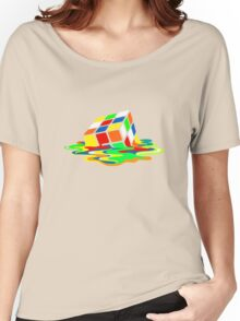 Big Bang Theory Sheldon Cooper Melting Rubik's Cube cool geek Women's Relaxed Fit T-Shirt