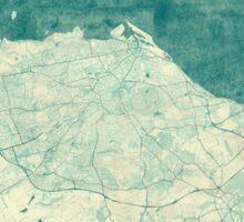 Edinburgh Map Blue Vintage Sticker