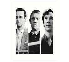 Sherlock - Jim Moriarty, John Watson, Sherlock Holmes Art Print