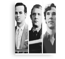 Sherlock - Jim Moriarty, John Watson, Sherlock Holmes Metal Print