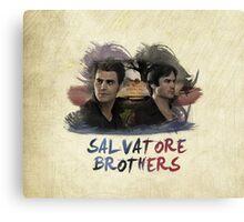 Salvatore Brothers - The Vampire Diaries Canvas Print