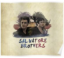 Salvatore Brothers - The Vampire Diaries Poster