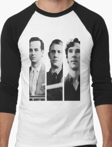 Sherlock - Jim Moriarty, John Watson, Sherlock Holmes Men's Baseball ¾ T-Shirt