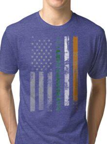 Irish Shamrocks St. Patricks Day Tri-blend T-Shirt