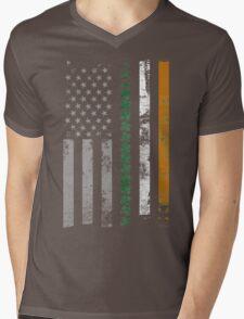 Irish Shamrocks St. Patricks Day Mens V-Neck T-Shirt