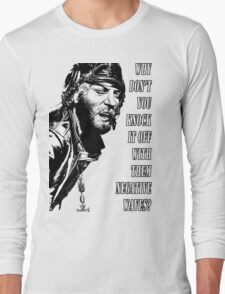 Oddball Says - black & white Long Sleeve T-Shirt