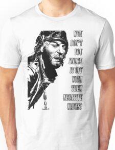 Oddball Says - black & white Unisex T-Shirt
