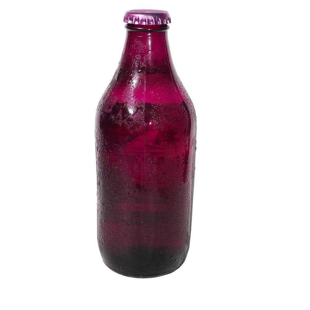 Isolated Mauve Beer Bottle by jojobob