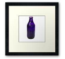 Isolated Indigo Beer Bottle Framed Print