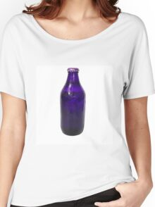 Isolated Indigo Beer Bottle Women's Relaxed Fit T-Shirt