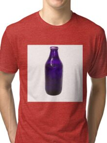 Isolated Indigo Beer Bottle Tri-blend T-Shirt