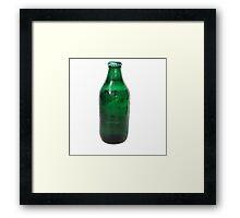 Isolated Green Beer Bottle Framed Print