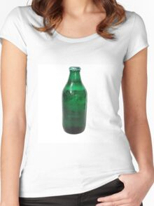 Isolated Green Beer Bottle Women's Fitted Scoop T-Shirt