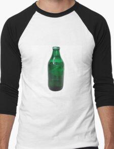Isolated Green Beer Bottle Men's Baseball ¾ T-Shirt