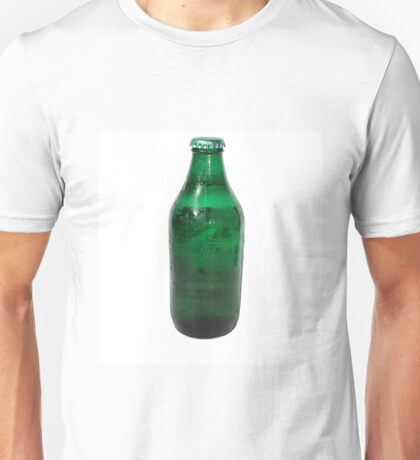 Isolated Green Beer Bottle Unisex T-Shirt
