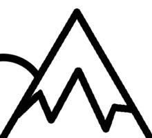 Simplistic Mountain Sticker