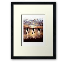 CONTEMPLATING THE SUNSET Framed Print