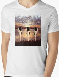 CONTEMPLATING THE SUNSET Mens V-Neck T-Shirt