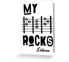 My -D-A-D- Rocks! By lilterra.com Greeting Card