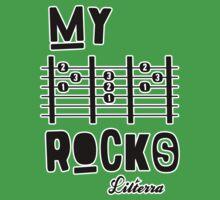 My -D-A-D- Rocks! By lilterra.com Baby Tee