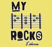 My -D-A-D- Rocks! By lilterra.com Kids Tee
