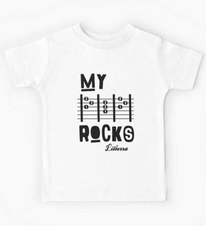 My -D-A-D- Rocks! By lilterra.com Kids Tee