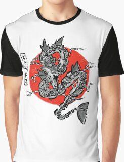 Gyarados Japan Brush Stroke Graphic T-Shirt