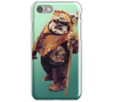 Jittery Little Thing - Low Poly Ewok iPhone Case/Skin