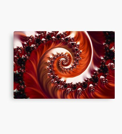 Crimson Passion - Heart of the Rose Canvas Print