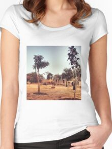 RURAL INDIA Women's Fitted Scoop T-Shirt